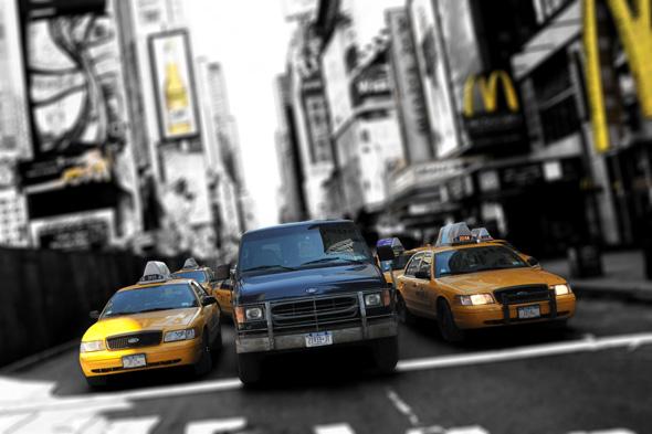 Taxi de face